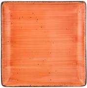 Тарелка обеденная квадратная Nature (оранжевая) Bronco A269386