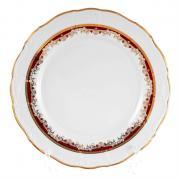 Набор тарелок Thun / Мария Луиза красная лилия / 27 см / 6 шт
