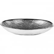 Тарелка овальная большая GRANITO ICE GREY от Argenesi, 27x18 см, стекло, серебро