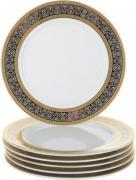 Набор десертных тарелок Opal (декор Широкий кант платина, золото) Thun CB256901