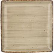 Тарелка закусочная квадратная Nature (серая) Bronco A269394
