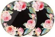Набор з 2-х тарелок обеденных Винтаж (черный) Lefard A286253