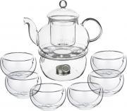 Набор чайный Agness, 250-115, прозрачный, 7 предметов