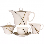 Чайный сервиз МОККО от Royal Bone China на 6 персон, 17 предметов