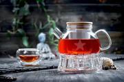 Стеклянный чайник с подогревом от свечи и чашками – Набор Бамбук (Наборы-Акции)