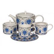 Чайный сервиз ХАННА от Royal Bone China на 6 персон, 17 предметов
