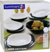 Столовый набор Luminarc Carine Modern 19 предметов черно-белый