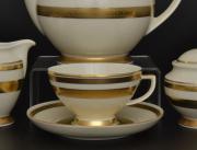 Набор чайных пар 250 мл CREME GOLD 9321 от Falkenporzellan, 6 пар