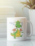 Aksisur Кружка с изображением Дракон (Dragon) белая 0044