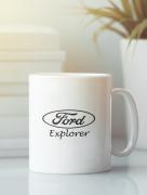 Aksisur Кружка с изображением Ford, Explorer (Форд, Эксплорер) белая 0032