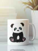 Aksisur Кружка с изображением Панда, Медвежонок (Panda) белая 0022