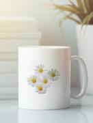 Aksisur Кружка с изображением Цветы (Ромашки) белая 005