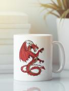 Aksisur Кружка с изображением Дракон (Dragon) белая 0023