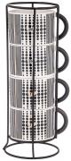 Набор из 4-х чашек на металлической Этника Lefard A293926