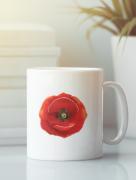Aksisur Кружка с изображением Цветы (Маки) белая 001