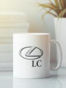 Aksisur Кружка с автомобилем Лексус LC (Lexus LC) белая 002