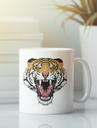Aksisur Кружка с изображением Тигр (Tiger) белая 0037