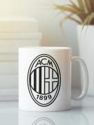 Aksisur Кружка с эмблемой FC ACM Milan (ФК Милан) белая 003