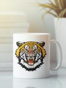 Aksisur Кружка с изображением Тигр (Tiger) белая 0027