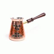 Турка медная Красная роза, съемная ручка, 450 мл