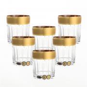 Набор стаканов для виски с золотом Bohemia / Max Crystal / 320 мл / 6 шт