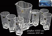 Набор графин + 6 стаканов Lenardi LM291110