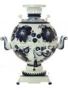 """Электрический самовар 5 литров с росписью """"Гжель"""" с автоматическим отключением арт. 159678к"""