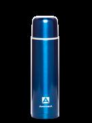 Термос Арктика литровый с узким горлом, классический, синий 102-1000