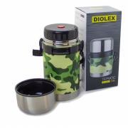 Суповой термос с широким горлом diolex 800 мл, ремешок в комплекте dxf-800-3 милитари
