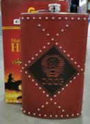 Фляга металл кожа СССР с узором из кнопок 64OZ 1600мл 19-ВРВ