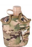 Фляга с котелком и чехлом образца НАТО 1 литр (мультикам)