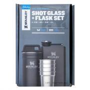 Набор Stanley Shot Glass Flask, стопки, футляр, фляга, чёрный