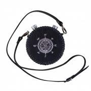 Аксо Подарочная фляга круглая двойная (2x0,5 л) обтянутая натуральной кожей AKSO 542ФК-ЧТ