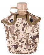 Фляга с котелком и чехлом образца НАТО 1 литр (пустынный цифровой камуфляж)