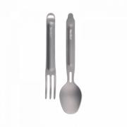 Походный набор столовых приборов Xiaomi Nextool Outdoor Titanium Fork&Spoon Gray