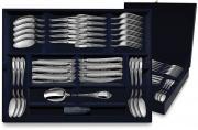 Набор десертных столовых приборов из серебра ФАВОРИТ в футляре от Argenta на 6 персон, 24 предмета