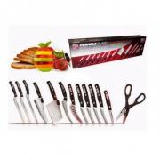 Набор кухонных ножей Mibacle blade (Черный)