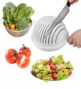 """Держатель для нарезки овошей """"Salad Cutter Bowl"""" 2 в 1"""