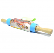 Скалка силиконовая с деревянными ручками Vertex 1751-VS