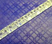Скалка для мастики/марципана акриловая текстурная Цветочная MQD009
