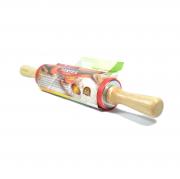 Скалка силиконовая с деревянными ручками Vertex 1750-VS