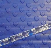 Скалка для мастики/марципана акриловая текстурная Сердечки MQ 415 S