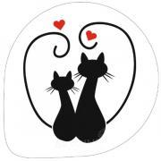 Трафарет для мастики/марципана Влюбленные коты2 Т112