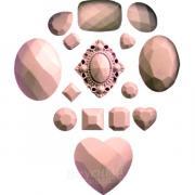 Мат для шоколада/мастики силиконовый Драгоценные камни2 10х8,5 см.