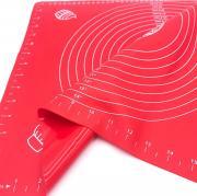 Силиконовый коврик для раскатывания теста 50х40 см Красный