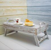 Деревянный столик-поднос для завтрака 54х23х30