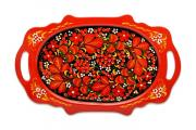 Сувенир, Поднос овальный Хохломская роспись Т-9474