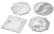 Керамические подставки для пиал, кружек и стаканов серого цвета (Аксессуары)