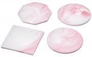 Керамические подставки для пиал, кружек и стаканов розового цвета (Аксессуары)
