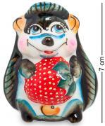 Подставка для зубочисток Ежик с клубникой (Гжельский фарфор) E228190